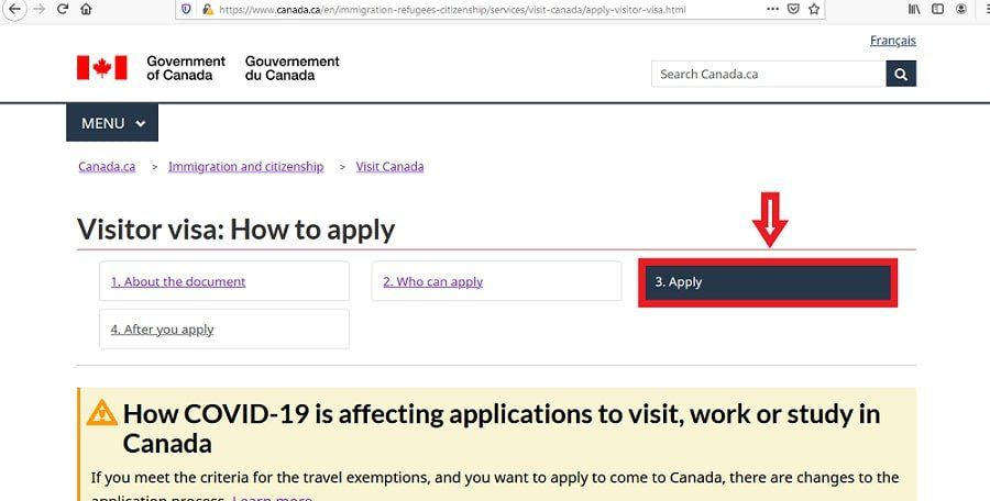 Canada Visa from China Application Online - 3