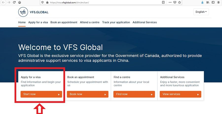 Canada Visa from China Application VFS - 1