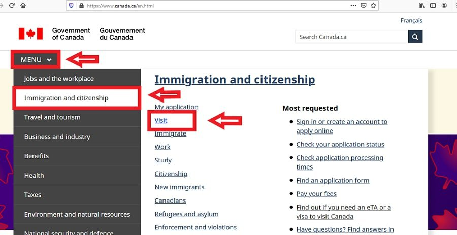 Canada Visa from Philippines Apply Online - 1