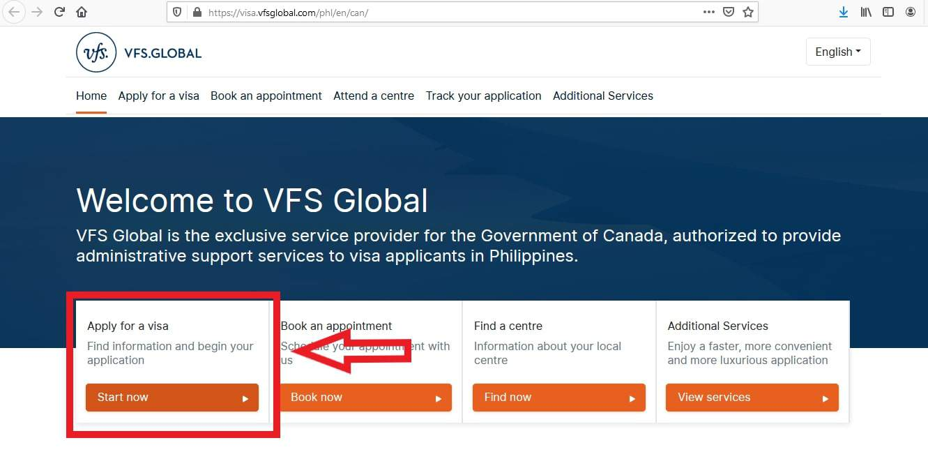 Canada Visa from Philippines Apply Paper - 1