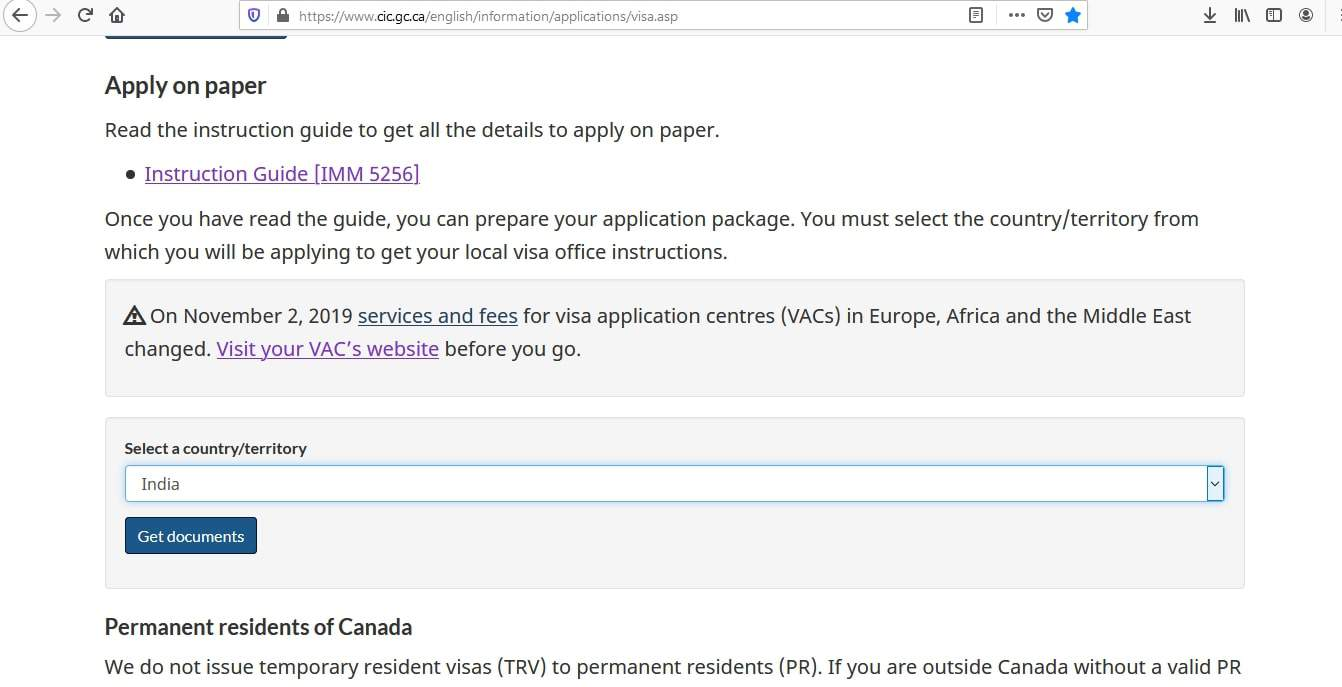 Canada visa - Documents Checklist - 2