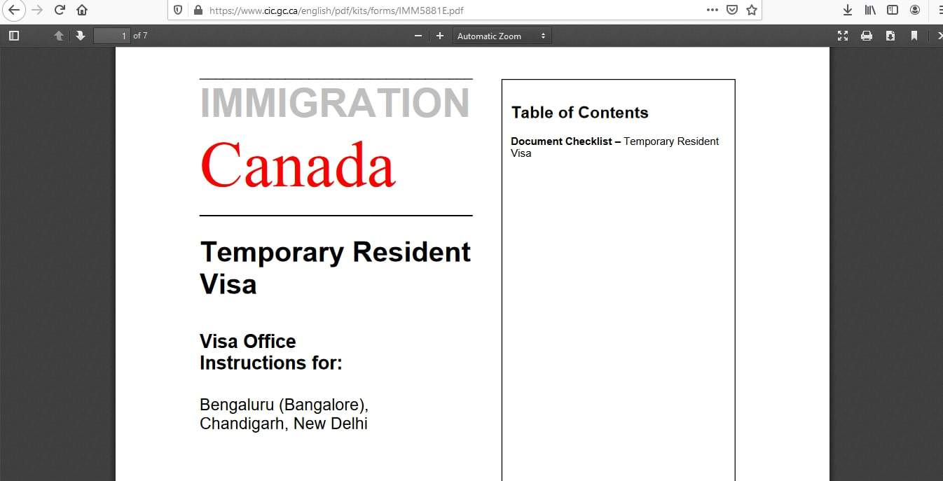 Canada visa - Documents Checklist - 4