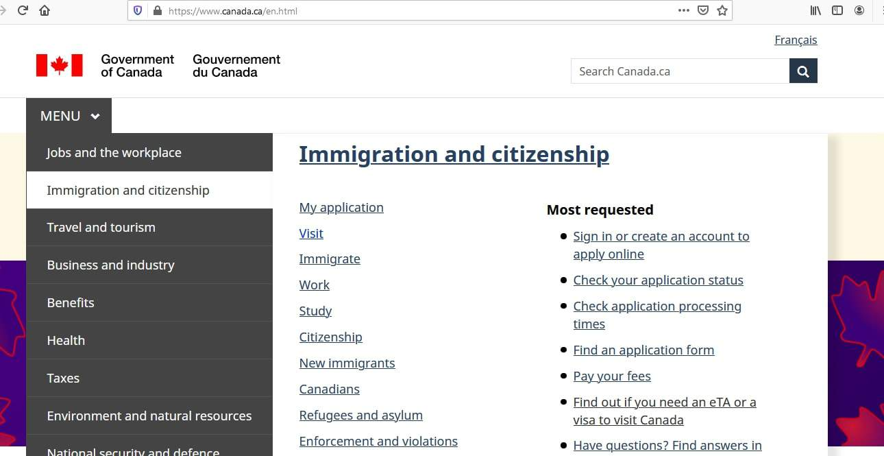 Canada visa - how to apply - 1