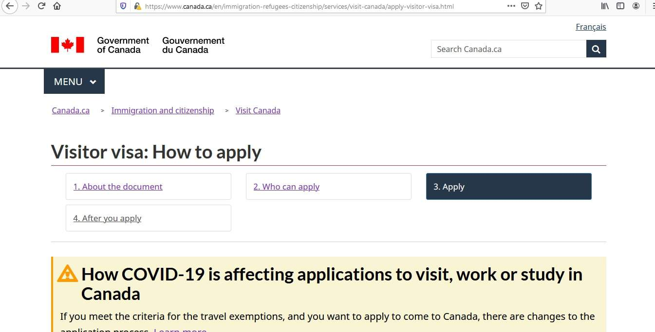 Canada visa - how to apply - 3