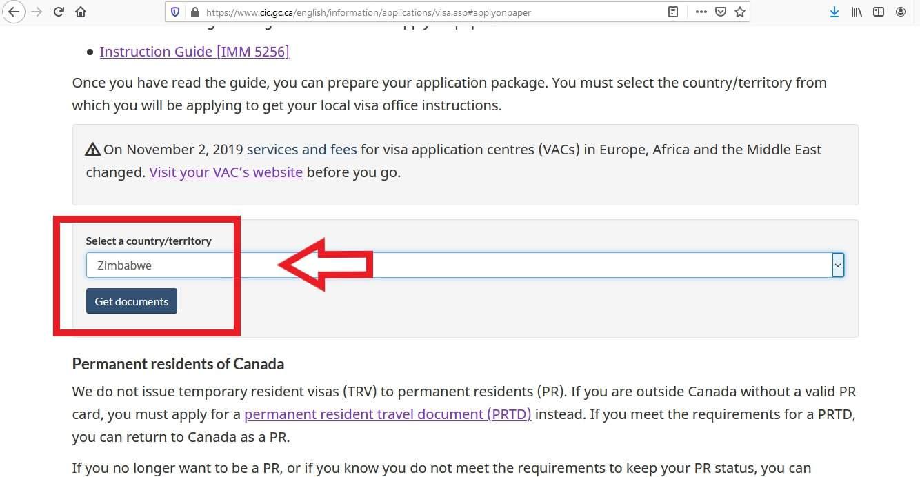 Canada Visa From Zimbabwe Application Documents Checklist - 3