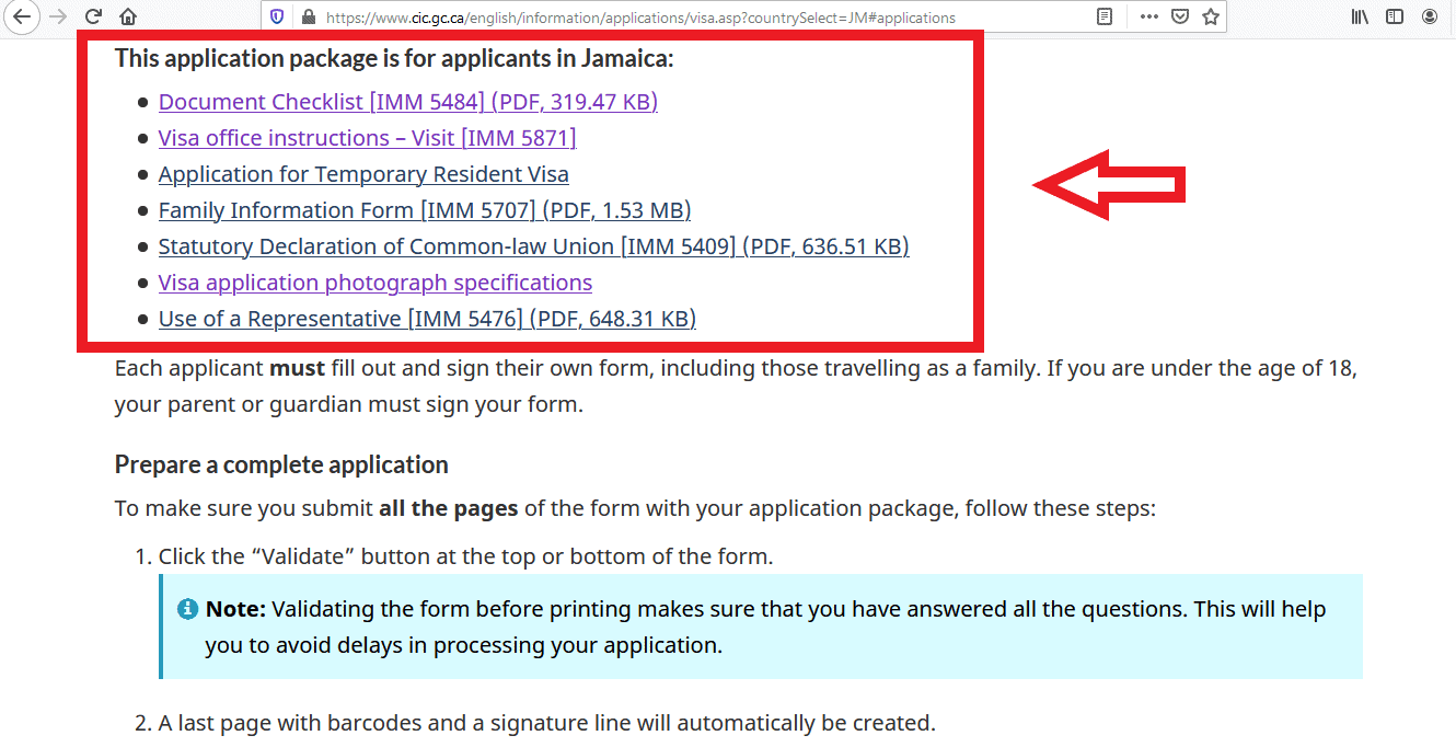Canada Visa from Jamaica Application Documents Checklist -5