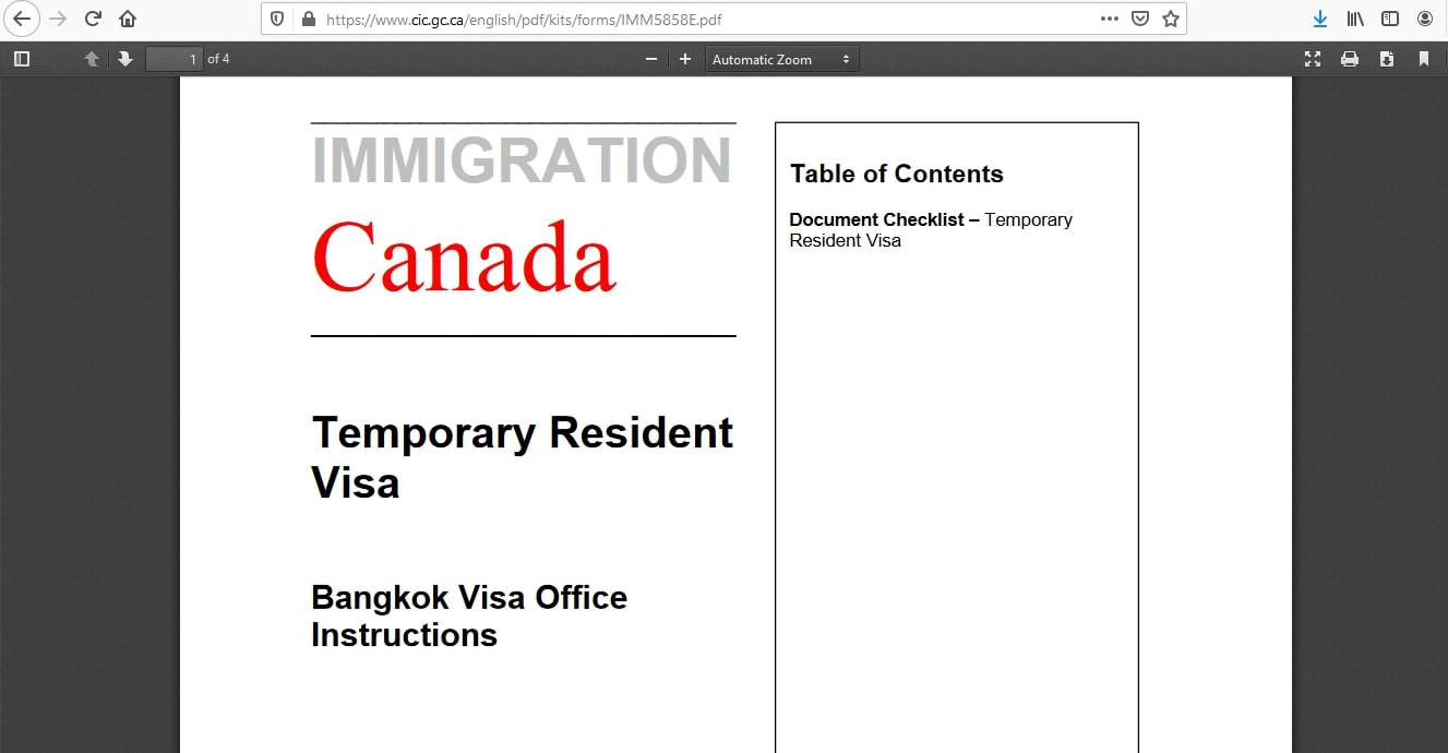 Canada Visa from Thailand Application Documents Checklist - 5