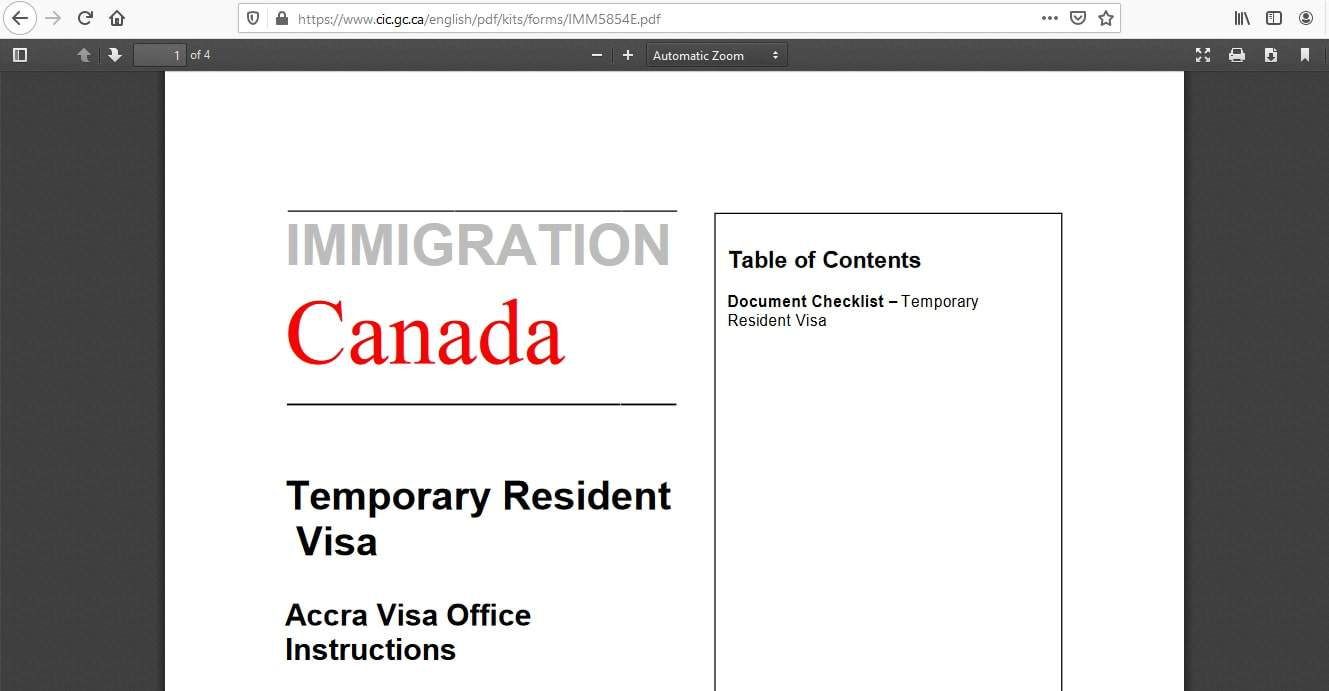 Canada Visa From Ghana Application Documents Checklist - 5