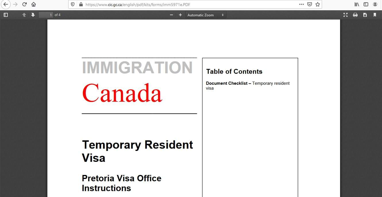 Canada Visa From South Africa Application Documents Checklist - 5