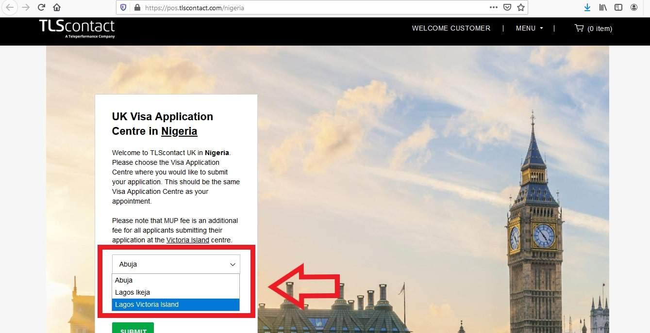 Apply UK Visa from Nigeria - Online Application 1