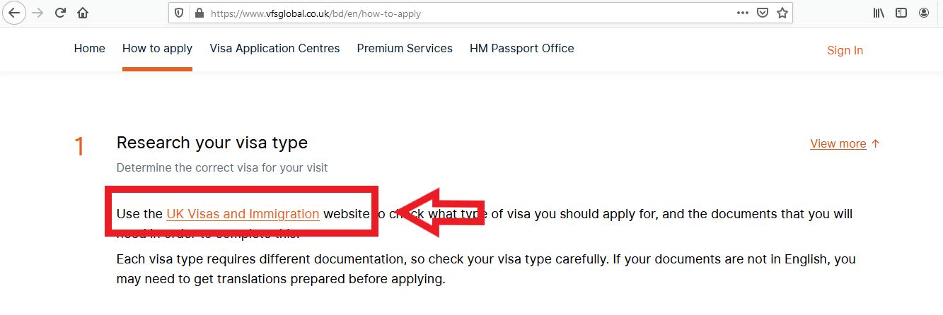 Apply UK Visa From Bangladesh Online Application 1