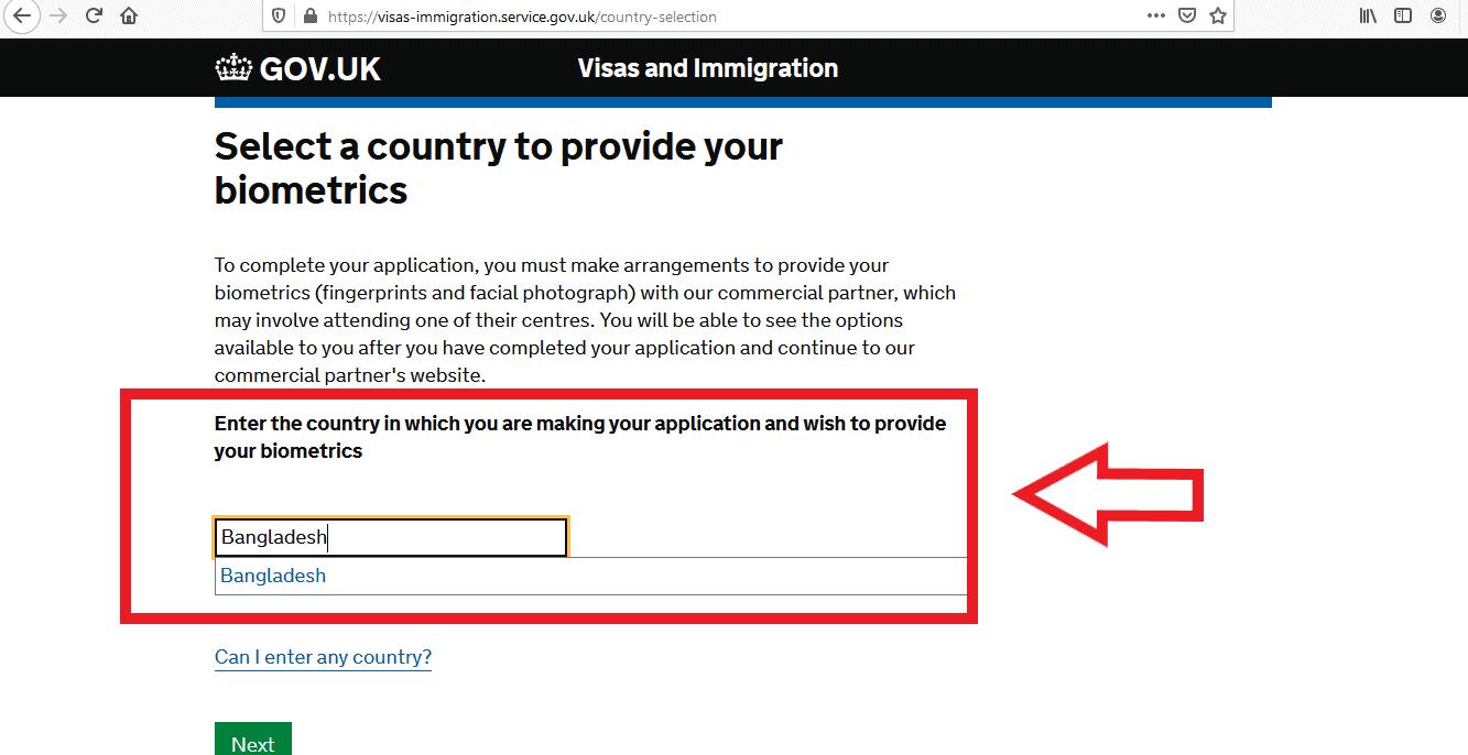 Apply UK Visa From Bangladesh Online Application 11