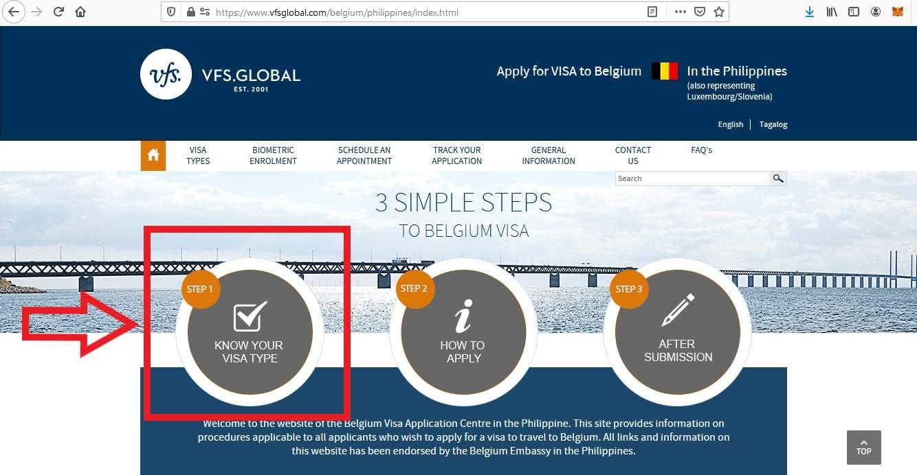 Apply Belgium Schengen Visa From Philippines Application 1