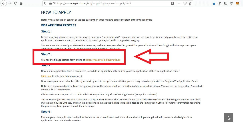 Apply Belgium Schengen Visa From Philippines Application 3