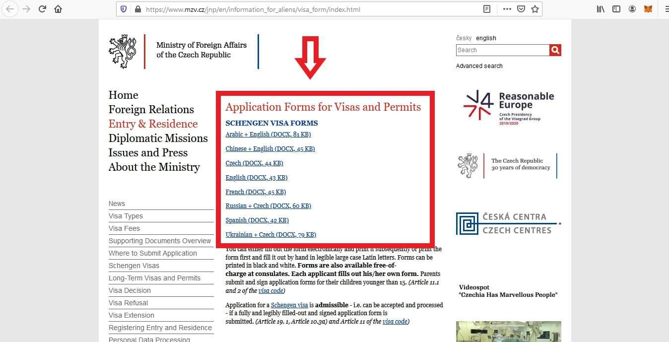 Apply Czech Republic Schengen Visa From Philippines Application 9