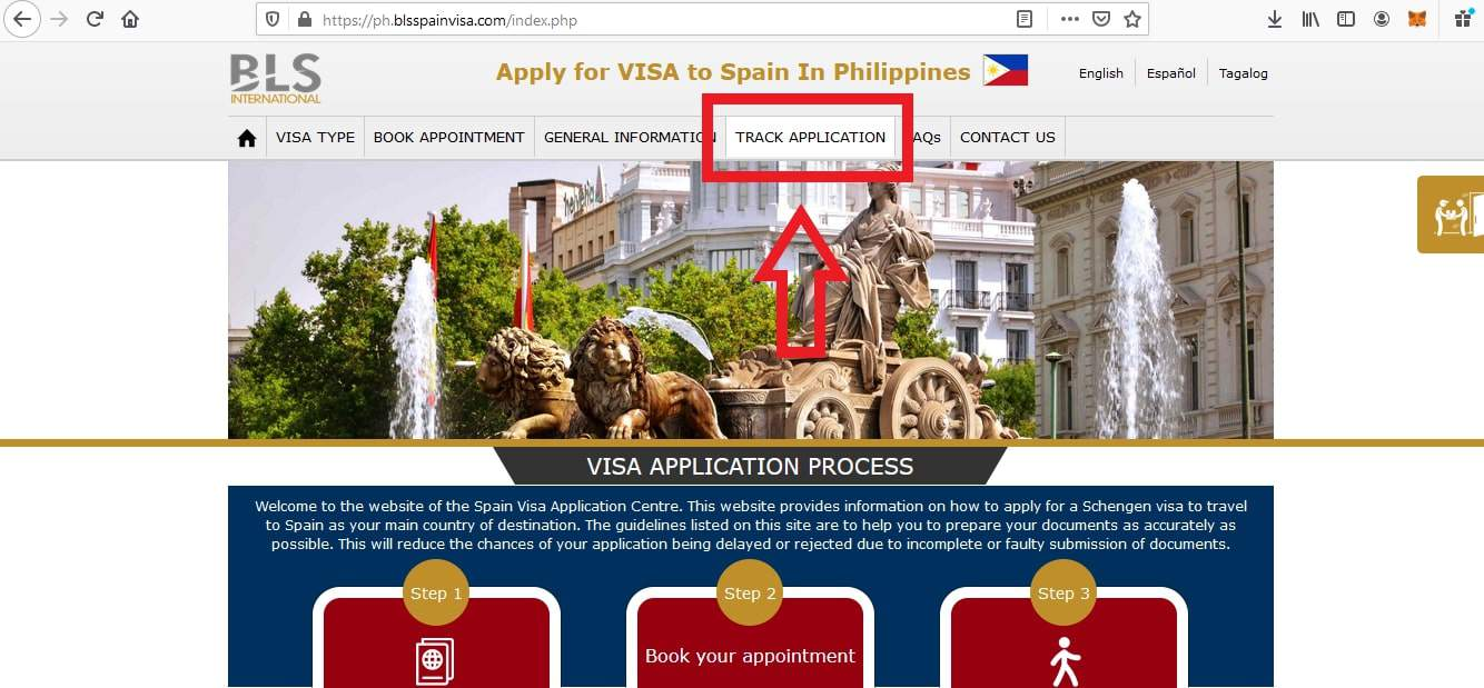Apply for Spain Visa from Philippines BLS Application 3