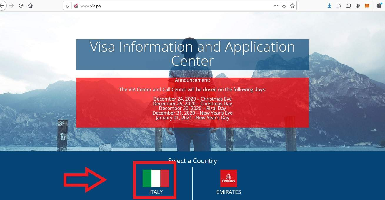 Apply For Italy Schengen Visa From Philippines Application1