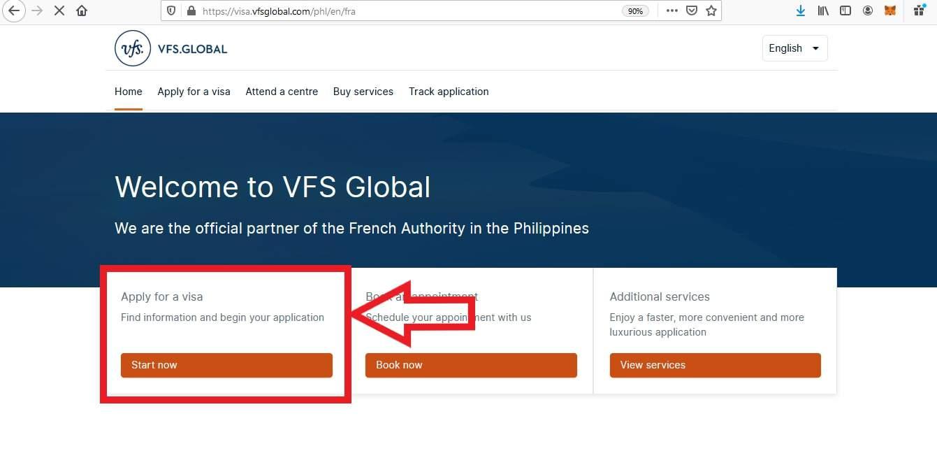 Apply for France Schengen Visa from Philippines Online Application1