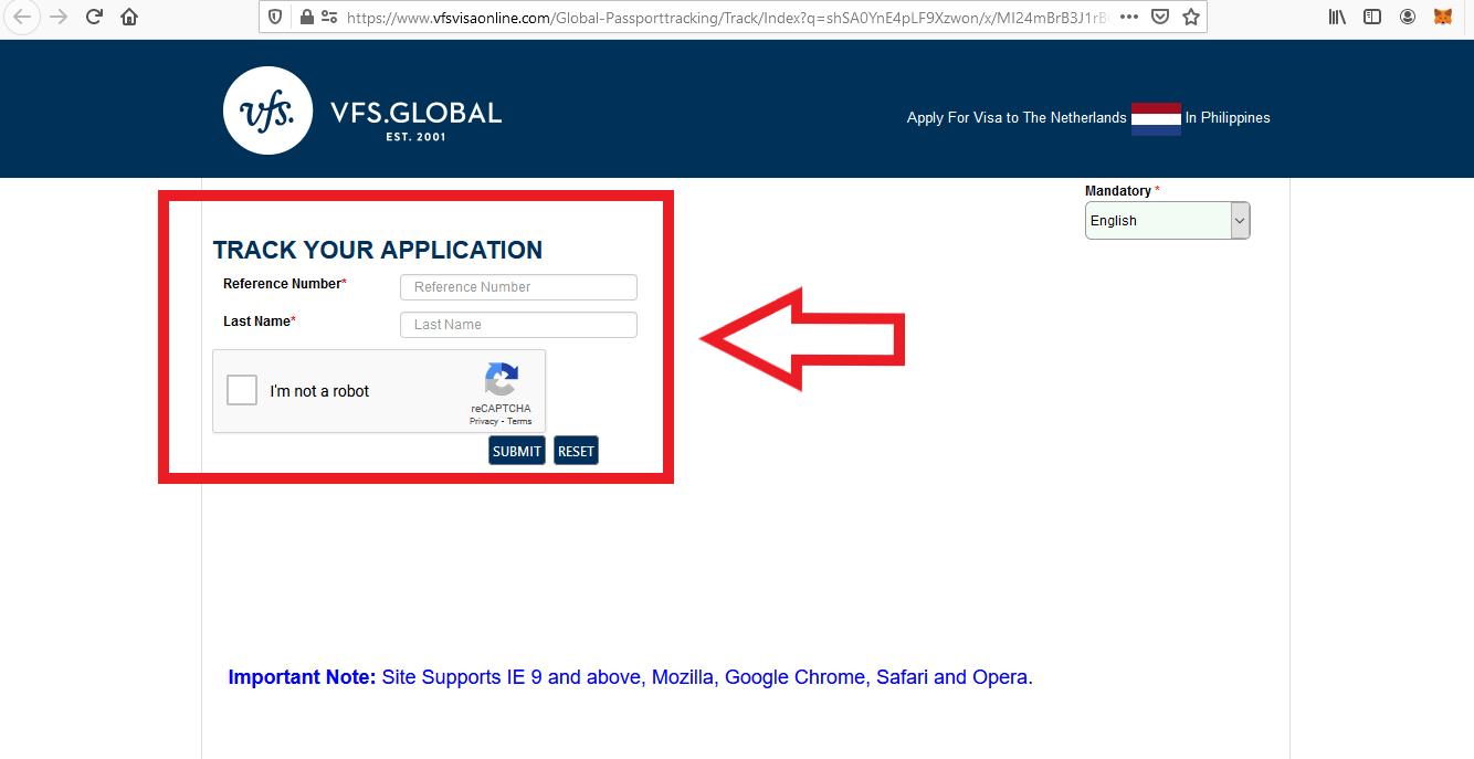 Apply for Netherlands Schengen Visa from Philippines Visa Track Status