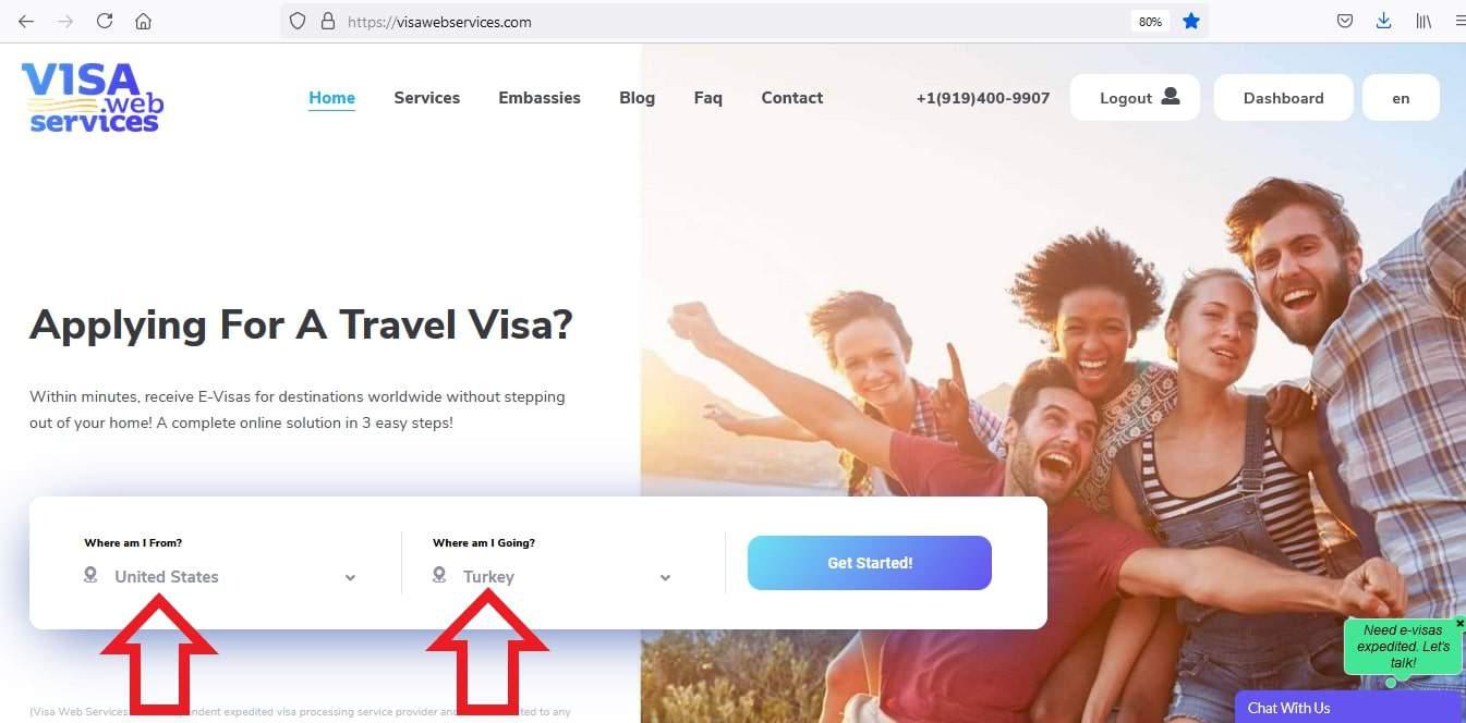Apply for eVisa using Visa Web Services - Visa Tool