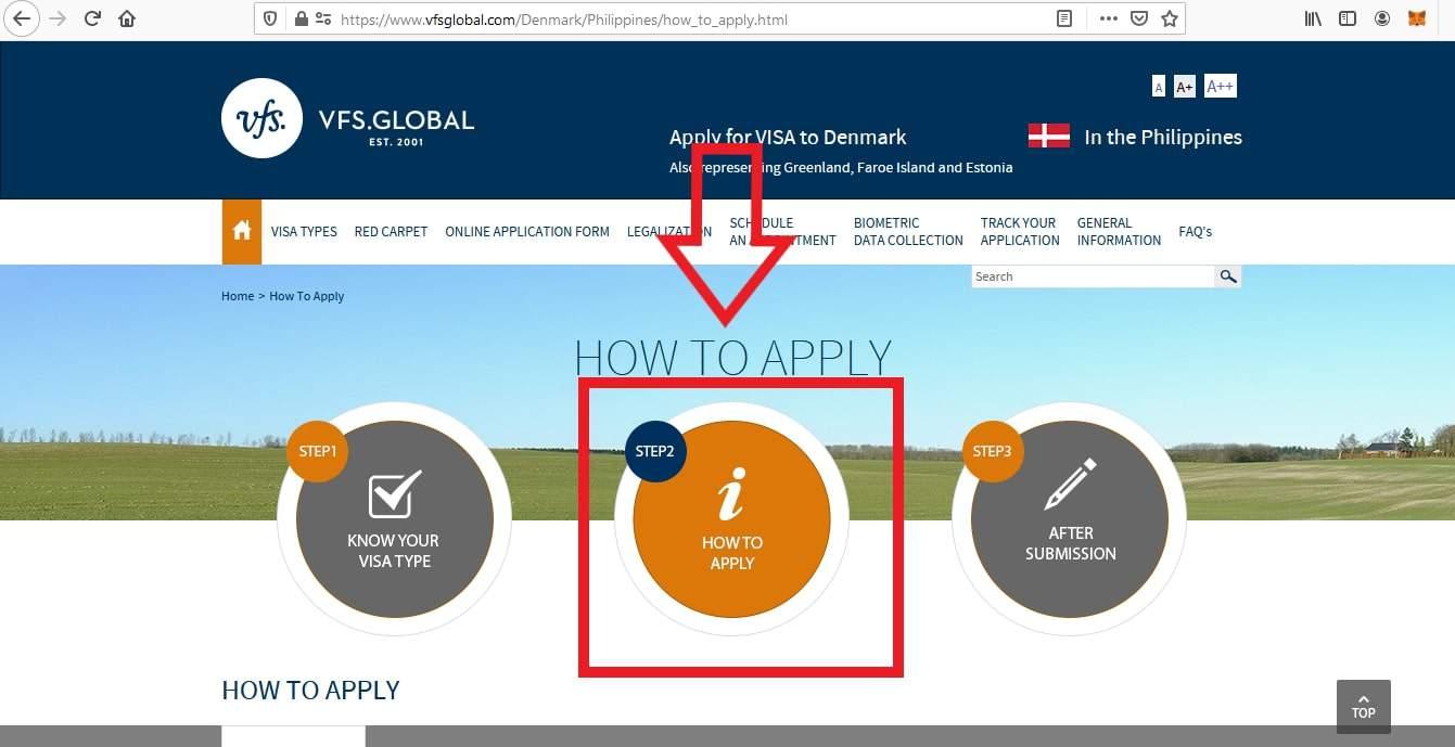 Apply for Denmark Schengen Visa from Philippines Online Application2