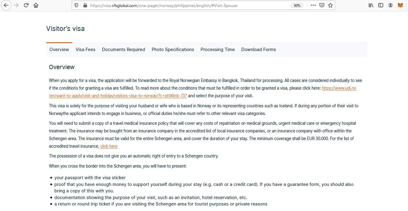 Apply for Norway Schengen Visa from Philippines Online Application4