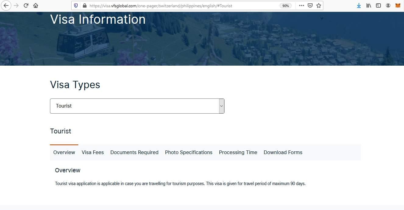 Apply for Switzerland Schengen Visa from Philippines Online Application3