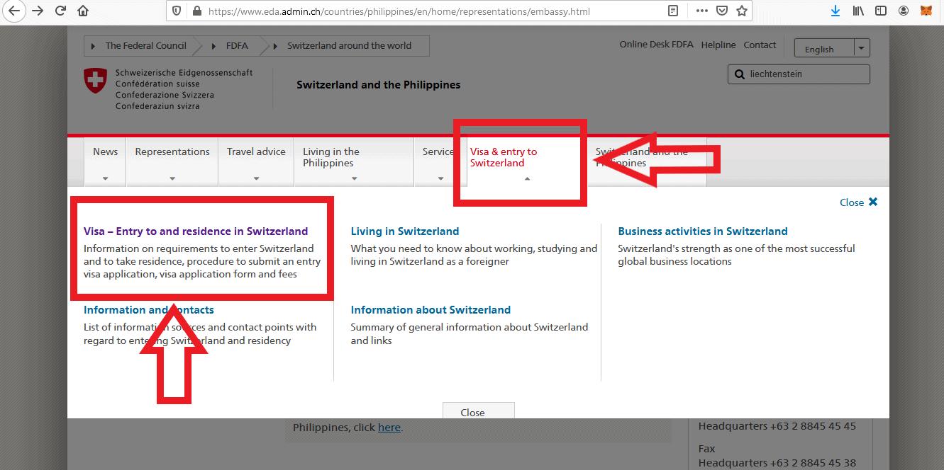 Apply for Switzerland Schengen Visa from Philippines Online Application4