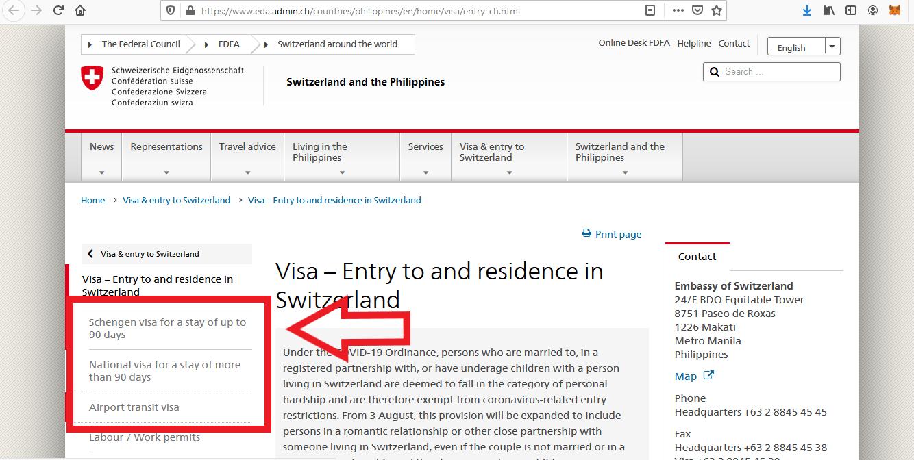 Apply for Switzerland Schengen Visa from Philippines Online Application5