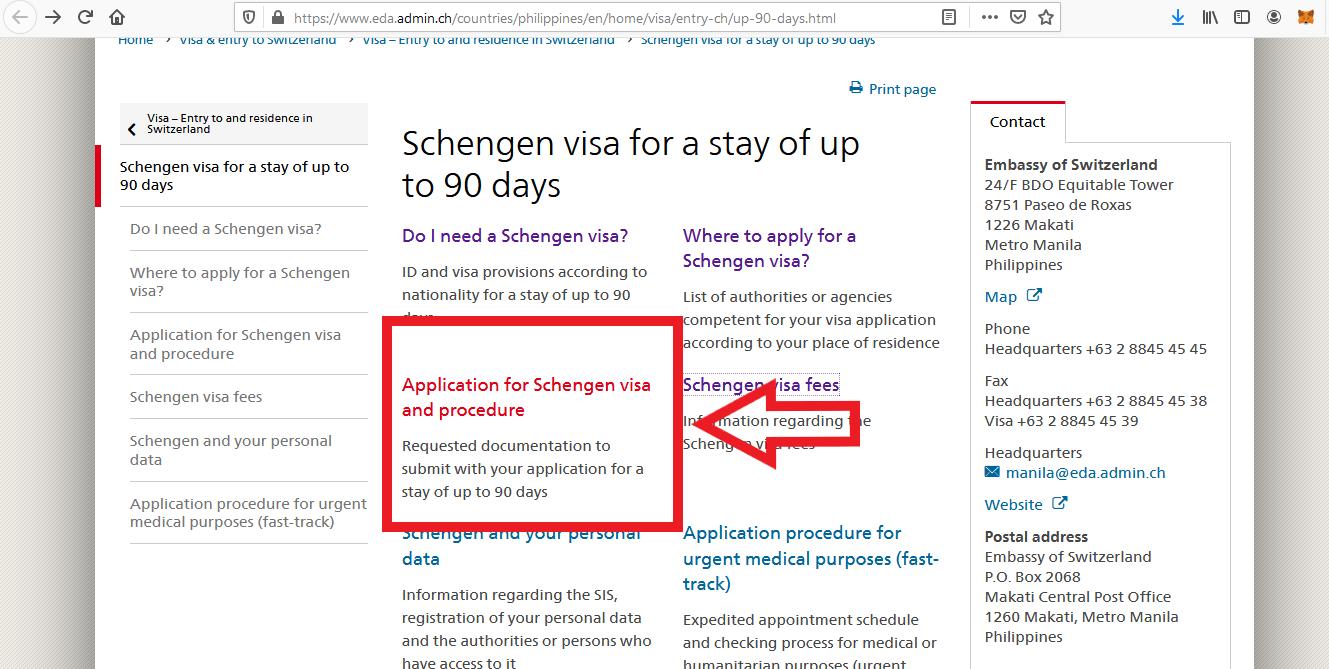 Apply for Switzerland Schengen Visa from Philippines Online Application6