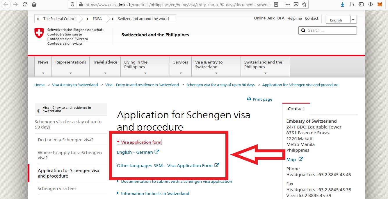 Apply for Switzerland Schengen Visa from Philippines Online Application7